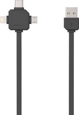 PowerCube USBcable USB-C Black