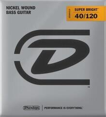 Dunlop DBSBN40120 Nickel Plated Bass Guitar Strings, Light