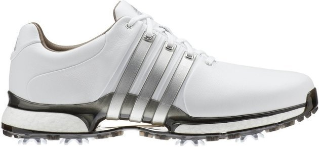 Adidas Tour360 XT Mens Golf Shoes Cloud White/Silver Metallic/Dark Silver Metallic UK 11