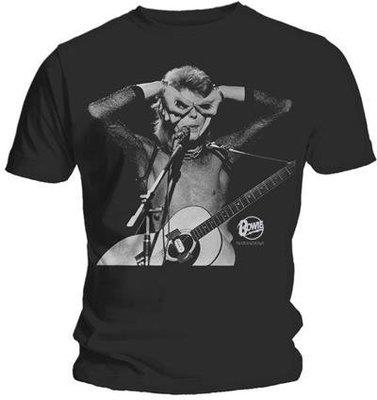 David Bowie Unisex Tee Acoustics M