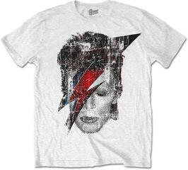 David Bowie Unisex Tee Halftone Flash Face White