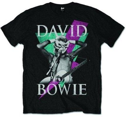 David Bowie Unisex Tee Thunder L