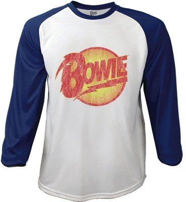 David Bowie Unisex Raglan Tee Smoking M