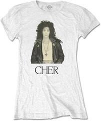 Cher Ladies Tee Leather Jacket White