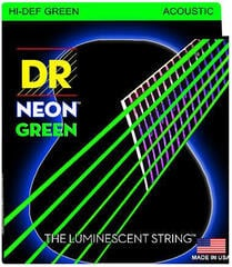 DR Strings HiDef Green Neon Medium-Lite Acoustic