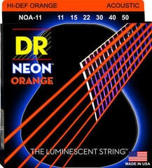 DR Strings HiDef Orange Neon Medium-Lite Acoustic