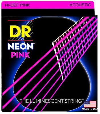 DR Strings HiDef Pink Neon Medium Acoustic