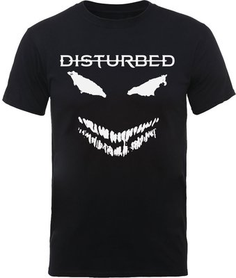 Disturbed Unisex Tee Scary Face Candle L