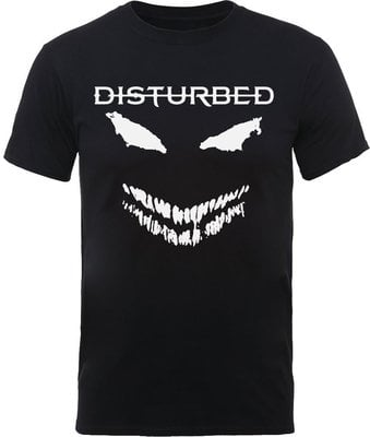Disturbed Unisex Tee Scary Face Candle XL