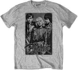 Blondie Unisex Tee Band Promo Grey
