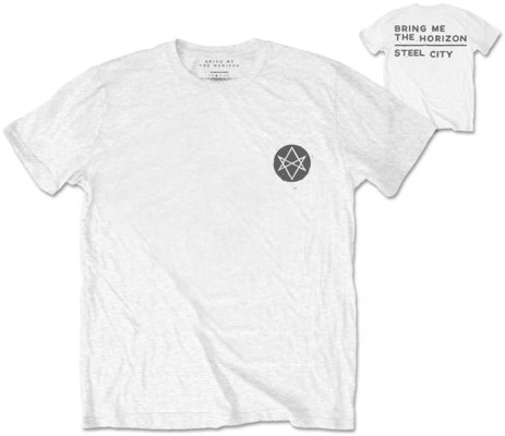 Bring Me The Horizon Unisex Tee Distorted (Back Print) M