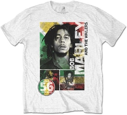 Bob Marley Unisex Tee 56 Hope Road Rasta L