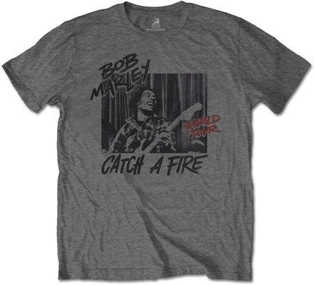 Bob Marley Unisex Tee Catch A Fire World Tour L