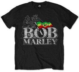 Bob Marley Unisex Tee Distressed Logo Black