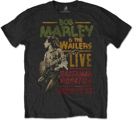 Bob Marley Unisex Tee Rastaman Vibration Tour 1976 XXL