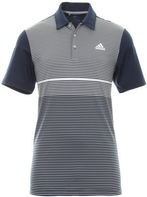 Adidas Ultimate365 Color Block Mens Polo Shirt Collegiate Navy/Grey Two L