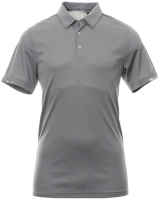 Adidas Climachill Core Heather Mens Polo Shirt Grey Heathered L