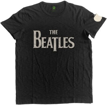 The Beatles Unisex Fashion Tee Drop T Logo (Applique Motifs) L