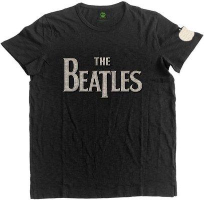The Beatles Unisex Fashion Tee Drop T Logo (Applique Motifs) M