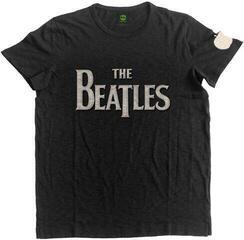 The Beatles Unisex Fashion Tee Drop T Logo (Applique Motifs) Black