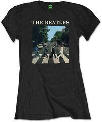 The Beatles Ladies Tee Abbey Road & Logo (Retail Pack) White