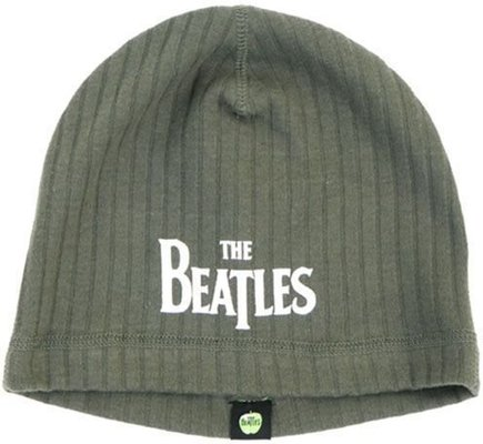 The Beatles Unisex Beanie Hat Drop T Logo Olive