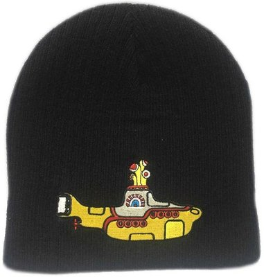 The Beatles Unisex Beanie Hat Yellow Submarine Black