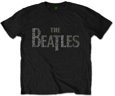 The Beatles Unisex Tee Drop T Songs XL