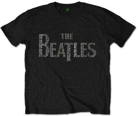 The Beatles Unisex Tee Drop T Songs XXL