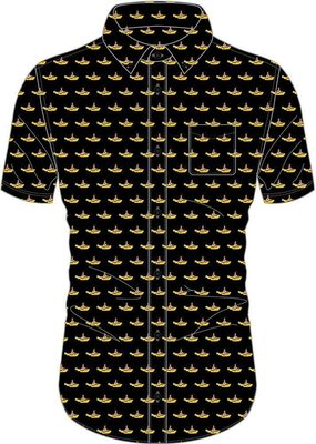 The Beatles Unisex Casual Shirt Yellow Submarine Black L