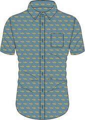 The Beatles Unisex Casual Shirt Yellow Submarine Denim