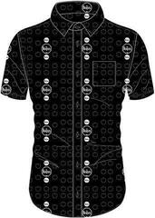 The Beatles Unisex Casual Shirt Drum and Apples Black