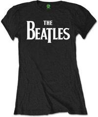 The Beatles Drop T Logo Fekete