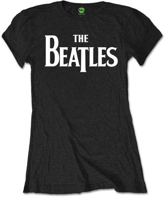 The Beatles Tee Drop T Logo Black (Retail Pack) S