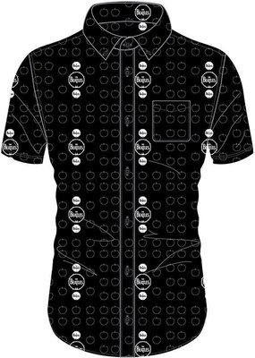 The Beatles Unisex Casual Shirt Drum and Apples M