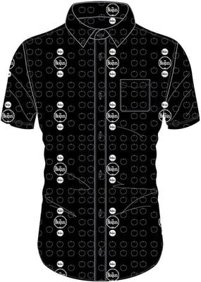 The Beatles Unisex Casual Shirt Drum and Apples S