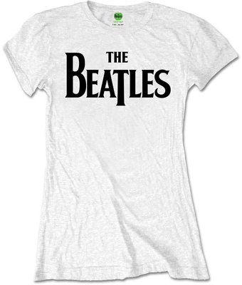 The Beatles Tee Drop T Logo White (Retail Pack) L