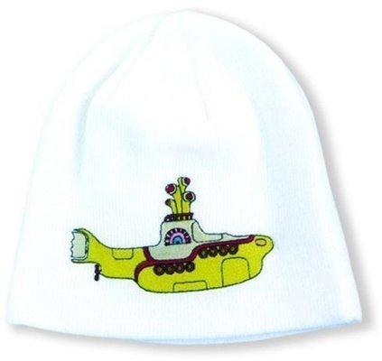 The Beatles Unisex Beanie Hat Yellow Submarine White