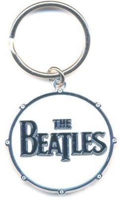 The Beatles Standard Keychain Drum Logo