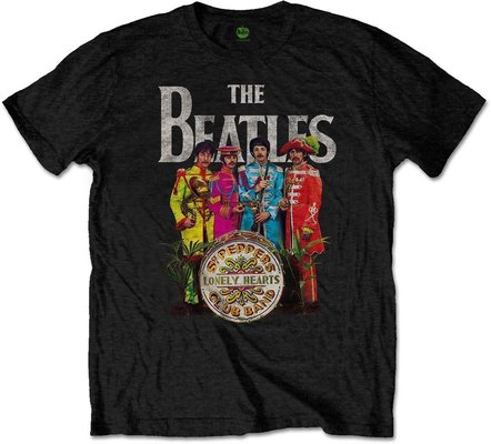 The Beatles Unisex Tee Sgt Pepper (Retail Pack) L