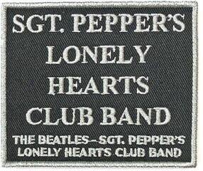 The Beatles Standard Patch Sgt. Pepper's….Black (Song Titles/Loose)