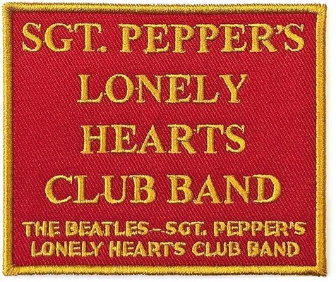 The Beatles Standard Patch Sgt. Pepper's….Red (Song Titles/Loose)
