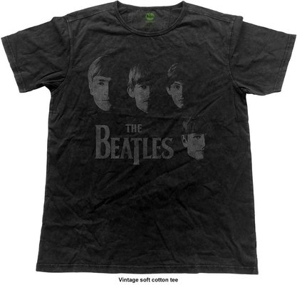 The Beatles Unisex Fashion Tee Faces Vintage Finish L