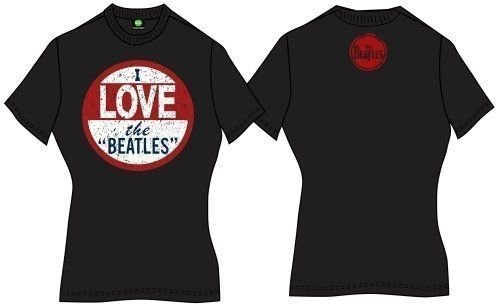 The Beatles Premium Tee I Love (Back Print) S