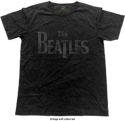 The Beatles Unisex Fashion Tee Logo Vintage Finish L