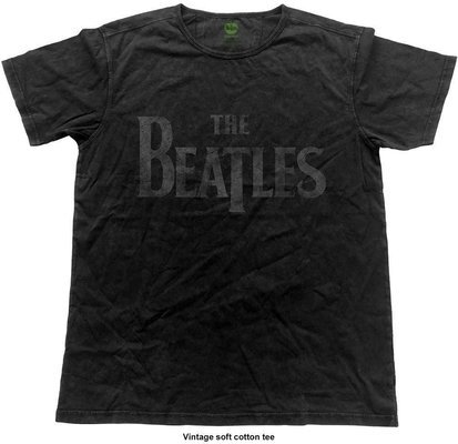 The Beatles Unisex Fashion Tee Logo Vintage Finish S