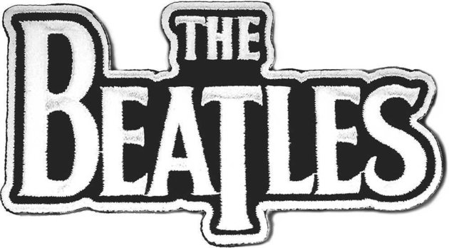 The Beatles Standard Patch Drop T Logo