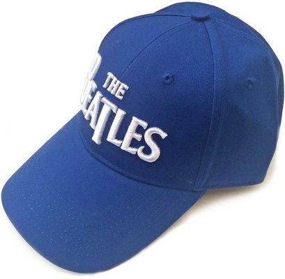 The Beatles Unisex Baseball Cap: Drop T Logo Mid Blue
