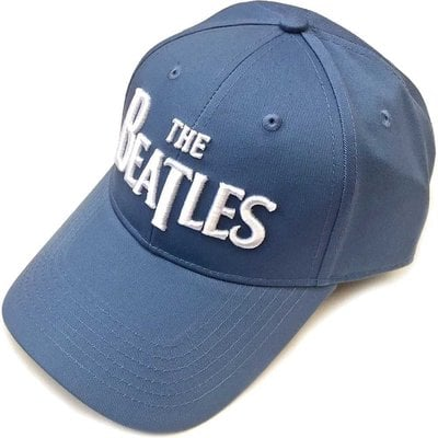 The Beatles Unisex Baseball Cap: Drop T Logo Denim Blue