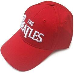 The Beatles Unisex Baseball Cap: Drop T Logo Red